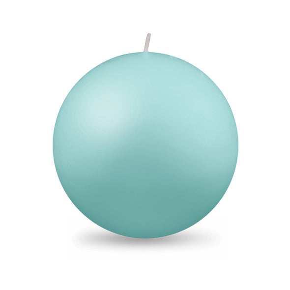 "Ball Candle XL 4"" - 1 piece Aquamarine"
