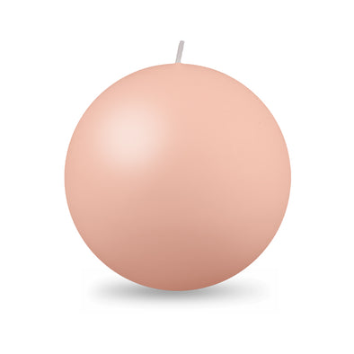 "Ball Candles XL 4"" - 1 Piece - Barely Blush"