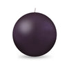 "Ball Candle XL 4"" - 1 piece Eggplant"