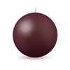 "Ball Candle XL 4"" - 1 piece French Bordeaux"