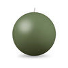 "Ball Candle XL 4"" - 1 piece Moss Green"