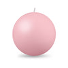 "Ball Candle XL 4"" - 1 piece Petal Pink"
