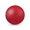 "Ball Candle XL 4"" - 1 piece Red"