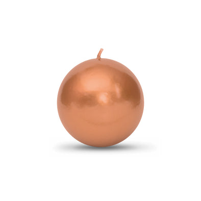 "Metallic Ball Candles - Medium 2 3/8"" Copper"