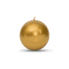 "Metallic Ball Candles - Medium 2 3/8"" Gold"