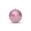 "Metallic Ball Candles - Medium 2 3/8"" Rose Gold"
