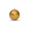 "Metallic Ball Candles -Small 2"" Gold"