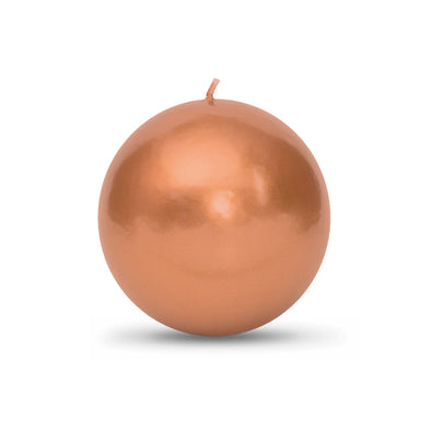 "Metallic Ball Candles - Large 3 1/8"" Copper"