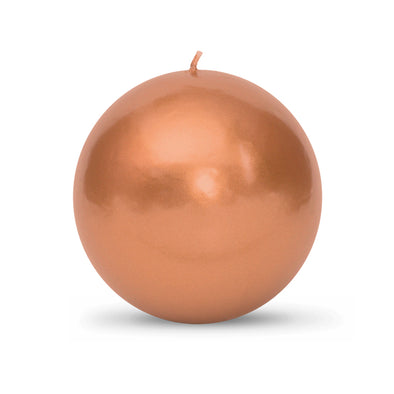 "Metallic Ball Candles - Extra Large 4"" Copper"