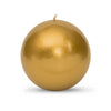 "Metallic Ball Candles - Extra Large 4"" Gold"