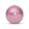 "Metallic Ball Candles - Extra Large 4"" Rose Gold"