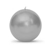 "Metallic Ball Candles - Extra Large 4"" Silver"