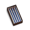 Chanukah Taper Candles - 45/box Metallic Pearl