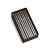 Chanukah Taper Candles - 45/box Metallic Silver