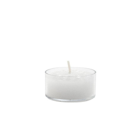 Tealight Candles Flat White in Clear Cup 125/box