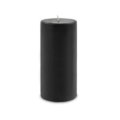 "Contemporary Pillar Candle 4"" x 9"" Black"