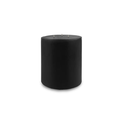 "Contemporary 3-Wick Pillar Candle 6"" x 6"" Black"