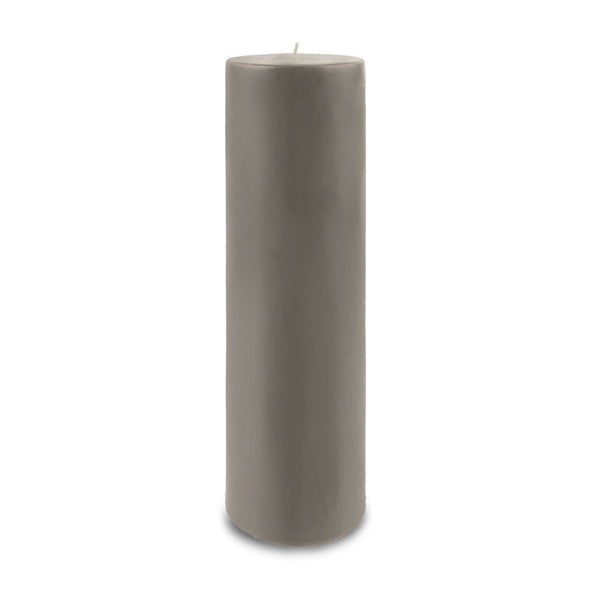"Contemporary Pillar Candle 3"" x 12"" - Paris Gray"