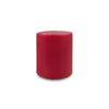 "Contemporary 3-Wick Pillar Candle 6"" x 6"" Red"