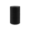 "Contemporary 3-Wick Pillar Candle 6"" x 9"" Black"