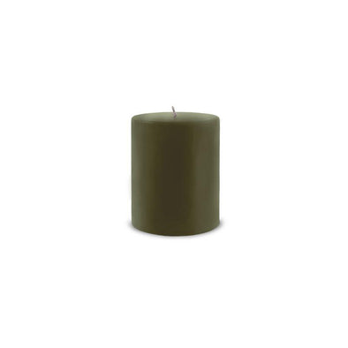 "Classic Pillar Candle 3"" x 4"" Moss Green"