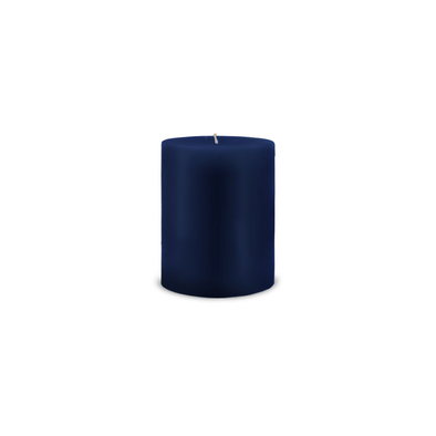 "Classic Pillar Candle 3"" x 4"" Navy Blue"