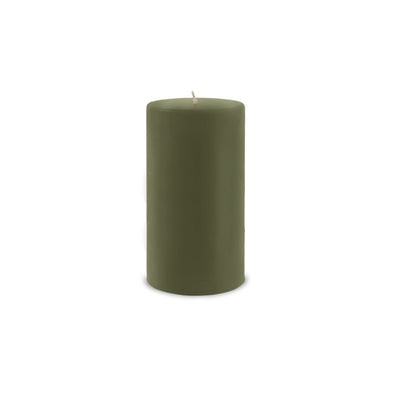 "Classic Pillar Candle 3"" x 6"" - Moss Green"