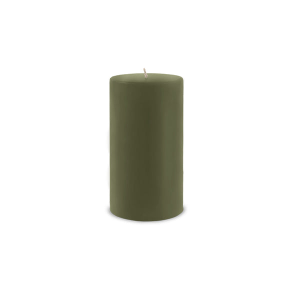 "Classic Pillar Candle 3"" x 6"" Moss Green"