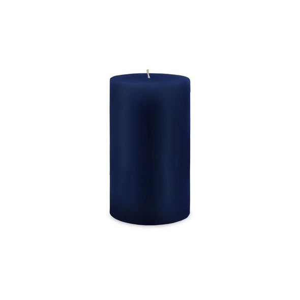 "Classic Pillar Candle 3"" x 6"" Navy Blue"