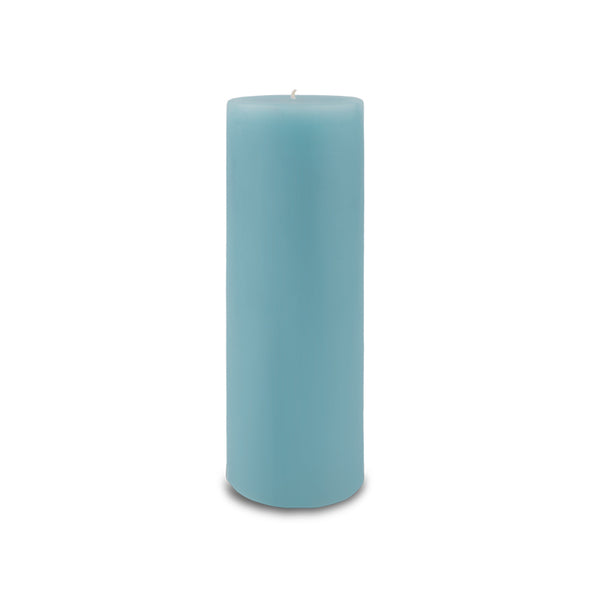 "Classic Pillar Candle 3"" x 9"" Aquamarine"