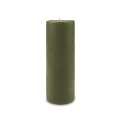 "Classic Pillar Candle 3"" x 9"" - Moss Green"