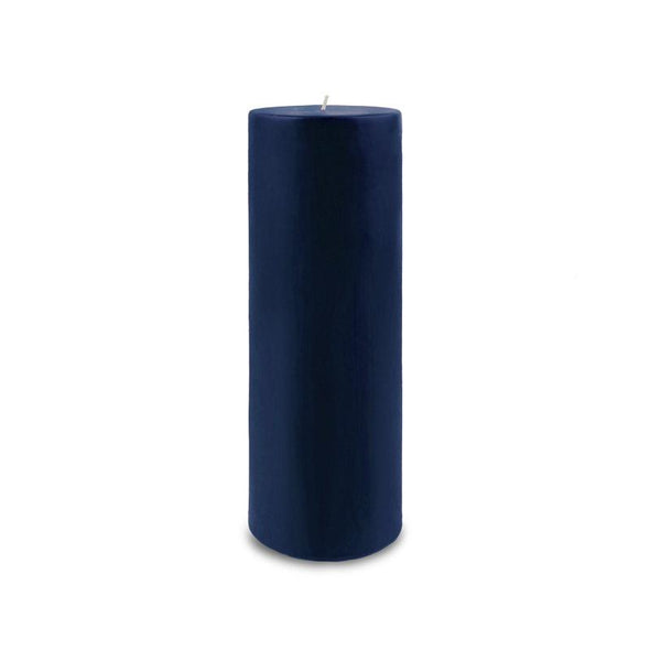 "Classic Pillar Candle 3"" x 9"" - Navy Blue"