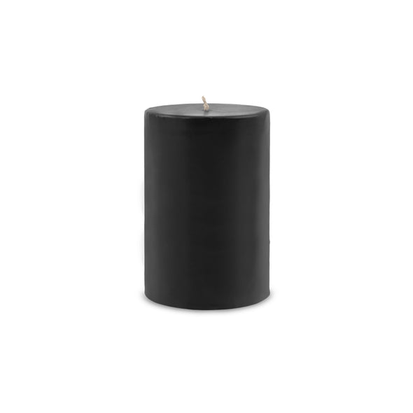 "Contemporary Pillar Candle 4"" x 6"" Black"