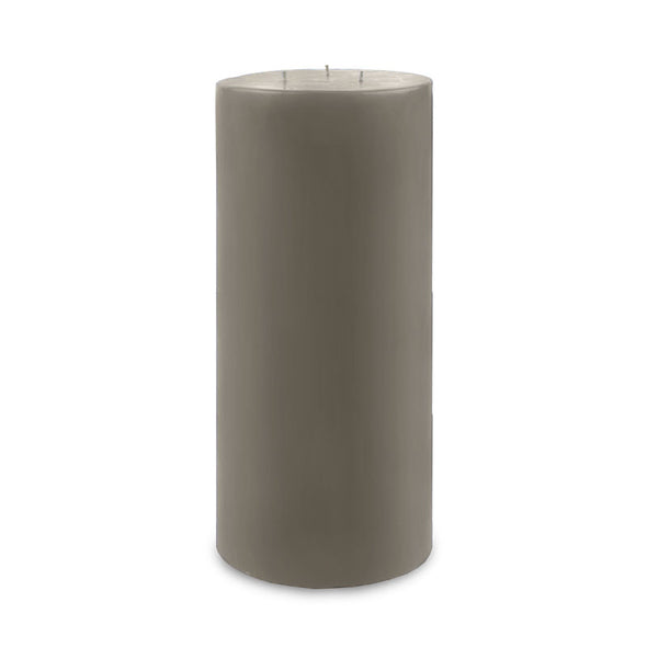 "Contemporary 3-Wick Pillar Candle 6"" x 12"" - Paris Gray"