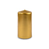 "Metallic Pillar Candle 3"" x 6"" Gold"