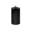 "Metallic Pillar Candle 3"" x 6"" Onyx"