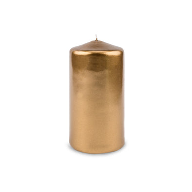 "Metallic Pillar Candle 3"" x 6"" - Roman Bronze"