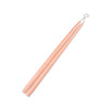 "Barely Blush 15"" Taper Candle 1 Pair"