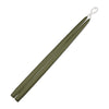 "Taper Candles 18"" - 1 pair Moss Green"