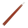 "Taper Candles 18"" - 1 pair Rust"