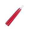"Taper Candles 9"" - 1 pair Holiday Red"