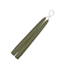 "Taper Candles 9"" - 1 pair Moss Green"