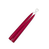 "Taper Candles 9"" - 1 pair Red"