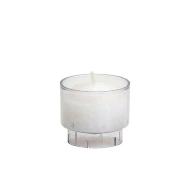 Tealight Candle - White in Clear Cup - Pedestal - 126/box