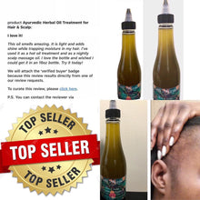 Ayurvedic Herbal Oil Treatment for Hair & Scalp