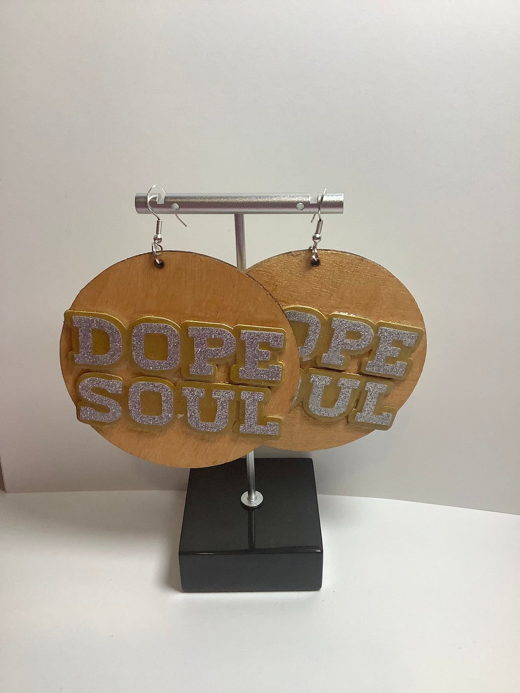 DOPE SOUL(Gold)Circle Wooden Earrings