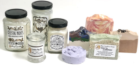 Shay Candles and Soaps available for wholesale to approved retail stores.