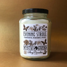 "Cardamom, Bergamot, Peony Scented 12oz Coconut Wax Candle ||""Evening Stroll"""