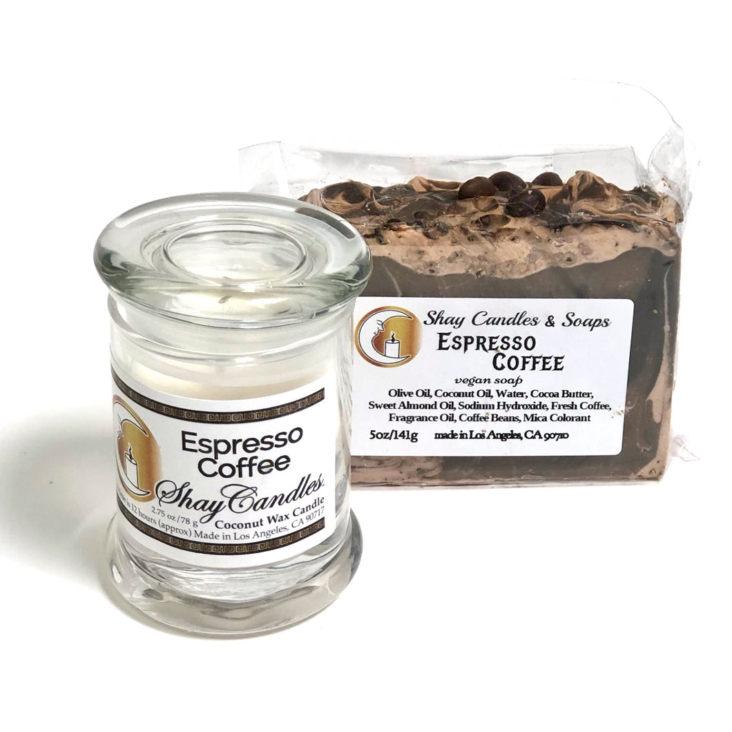 "Espresso Coffee Soap and Candle ||""ESPRESSO COFFEE GIFT SET"""