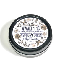 "Lemon, Verbena, Jasmine Scented Candle ||Set of Three 2oz Travel Tins ||""Awakening"""